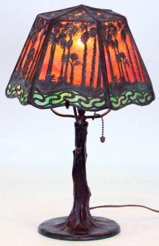 "7: 9"" Handel Hawaiian Sunset Boudoir Lamp Handel Hawaii - 2"