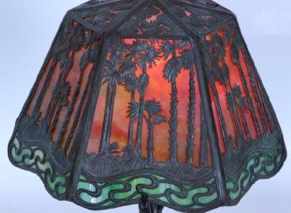 "7: 9"" Handel Hawaiian Sunset Boudoir Lamp Handel Hawaii - 3"