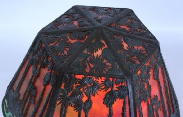 "7: 9"" Handel Hawaiian Sunset Boudoir Lamp Handel Hawaii - 5"