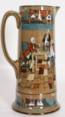 10: LARGE DELDARE WARE PITCHER - THE GREAT CONTROVERSY