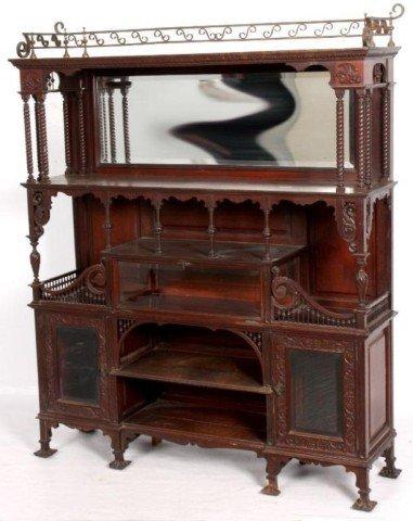 15: ATTR. R.J. HORNER ETEGERE Original finish mahogany