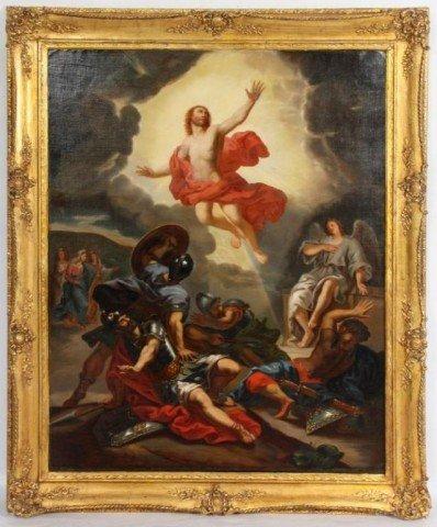 66: Large O/C Old Master Painting of Jesus Large O/C Ol