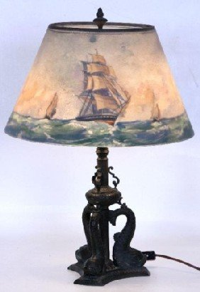 "Pairpoint Lamp ""Spanish Gallion"" The 16"" ""Lansdown"