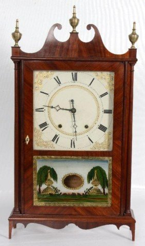Eli Terry Pillar & Scroll Mahogany Mantle Clock El