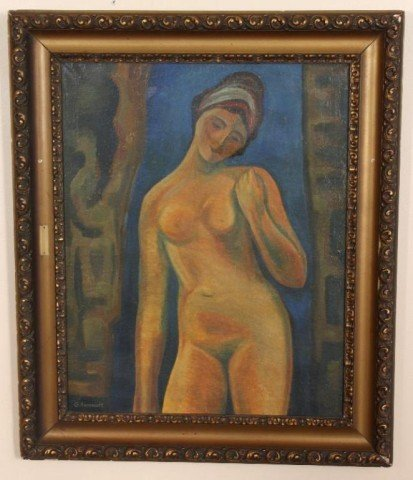 173: O/C Russian Nude by Georges Annenkov O/C Russian N