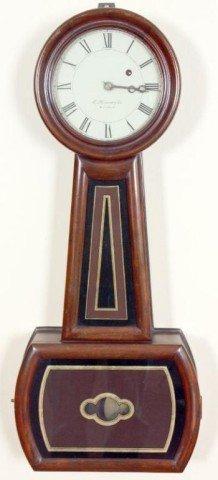 506: E. Howard #5 Banjo Clock Movement & face signed E.