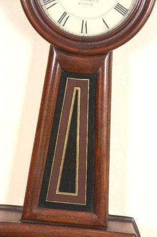 506: E. Howard #5 Banjo Clock Movement & face signed E. - 3