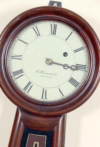 506: E. Howard #5 Banjo Clock Movement & face signed E. - 4