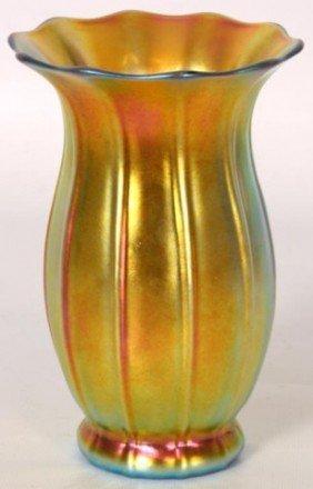 Steuben Iridescent Bell Form Vase