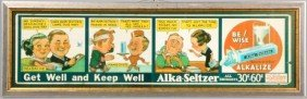 Early Comic Strip Alka-Seltzer Advertisement