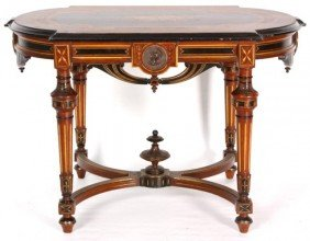 23: INLAID RENAISSANCE CENTER TABLE