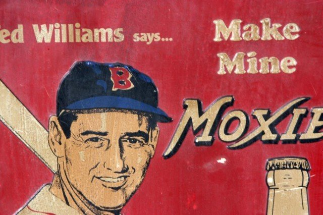 73: Vintage Ted Williams Moxie Advertising Sign - 2