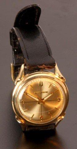 203: 14K Gold Bulova Accutron 214 Wristwatch