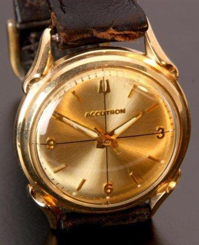 203: 14K Gold Bulova Accutron 214 Wristwatch - 2