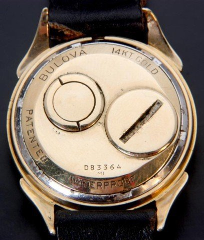 203: 14K Gold Bulova Accutron 214 Wristwatch - 3