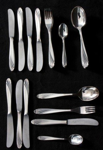 306: 32 Pieces WMF Silver Flatware Set - 10