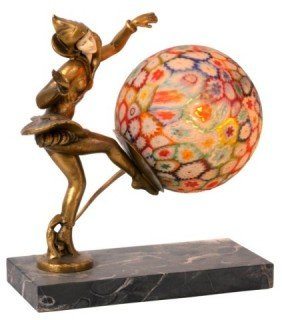 2: Millefiori Novelty Lamp With French Figure