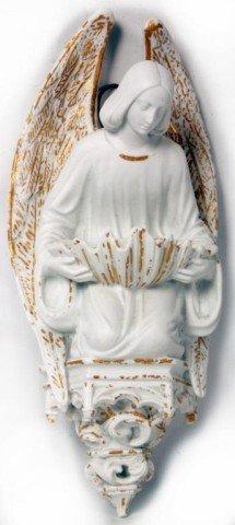 6: Bisque Angel Gabriel Holy Water Dispenser