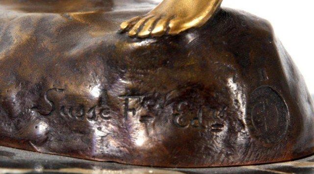 14: Joseph Descomps Nude Bronze Figure - 6