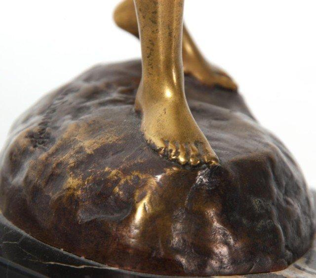 14: Joseph Descomps Nude Bronze Figure - 8