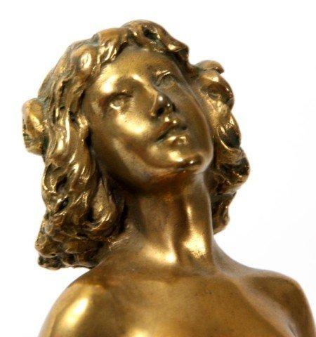 14: Joseph Descomps Nude Bronze Figure - 9