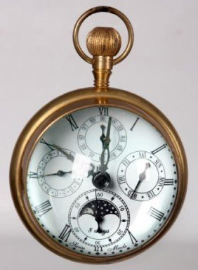 22: Antique Crystal And Brass Hanging Ball Clock