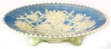 174 Northwood Custard Glass Footed Compote
