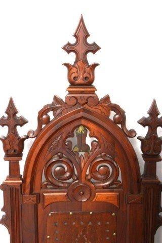 341: 5 Gothic Masonic Chairs - 3
