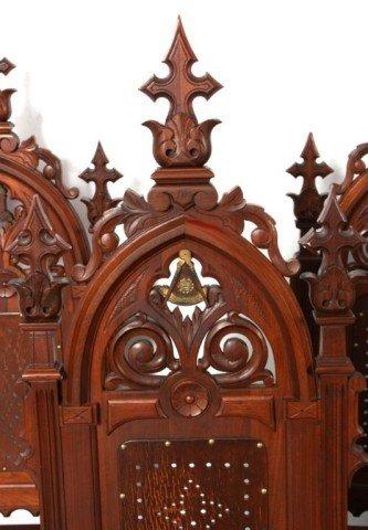 341: 5 Gothic Masonic Chairs - 4