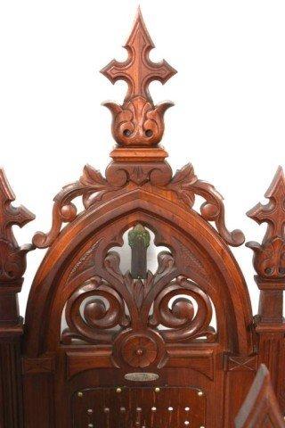 341: 5 Gothic Masonic Chairs - 5
