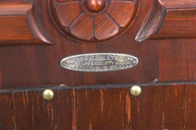 341: 5 Gothic Masonic Chairs - 6