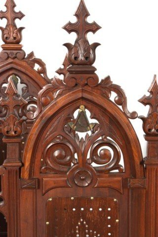 341: 5 Gothic Masonic Chairs - 7