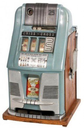 Mills Criss Cross 25 Cent Slot Machine