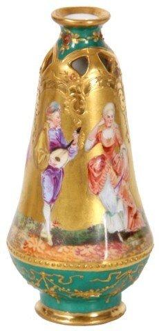 8: Dresden Porcelain Cabinet Vase
