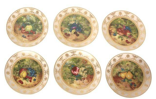 9: Set of 6 Limoges Porcelain Plates