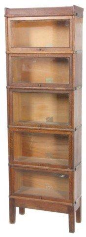 12: 3/4 Size Oak Stacking Bookcase
