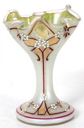 Fine Enameled Art Glass Vase