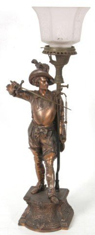 18: Don Caesar Figural Gas Lamp