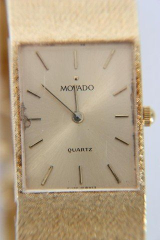 34: Movado 14K Gold Men's Watch - 2