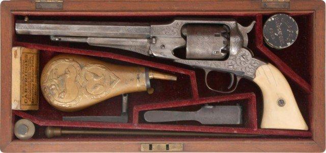 133: Cased 1858 Engraved Remington New Model - 2
