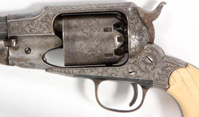 133: Cased 1858 Engraved Remington New Model - 4