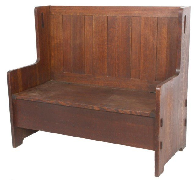 147: Gustav Stickley Oak Arts & Crafts Bench