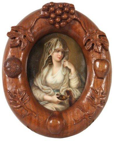 8: Porcelain Plaque - Vestal Virgin After Kauffmann