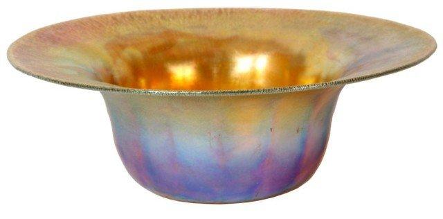 11: Tiffany Favrile Gold Iridescent Bowl