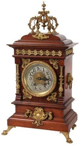 14: Lenzkirch Walnut Mantle Clock
