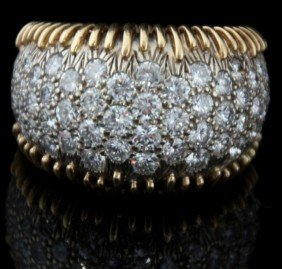 Tiffany Schlumberger Style Pave Diamond Ring