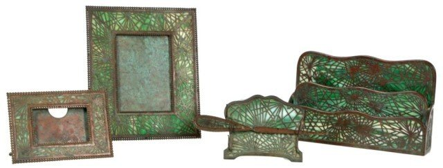 79: 5 Pc. Tiffany Pineedle Desk Set