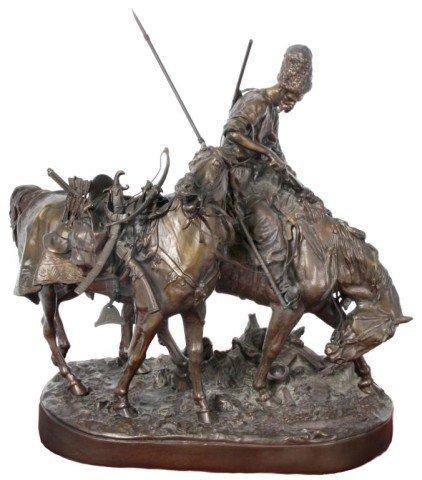 126: Lanceray Russian Bronze Zaporozhian Plunder