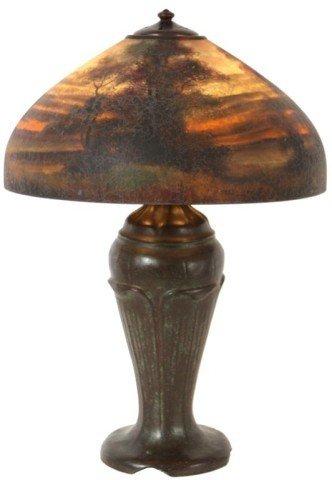 "128: 18"" Handel Scenic Table Lamp"