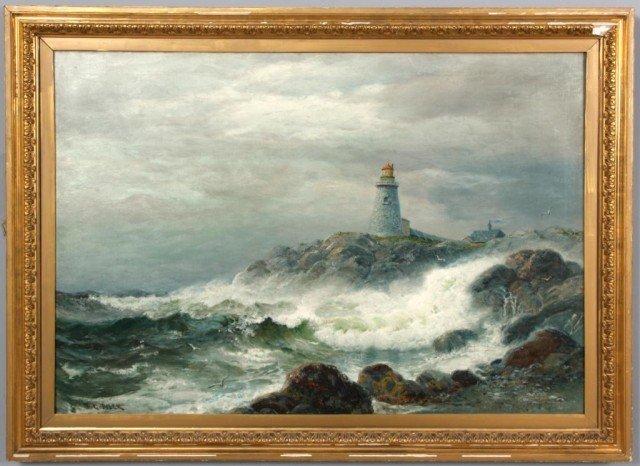 137: James Gale Tyler O/C Seascape